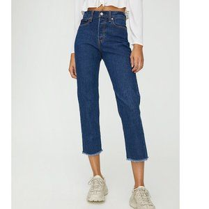 Levi's Wedgie Straight High Waist Cropped Mom Jean